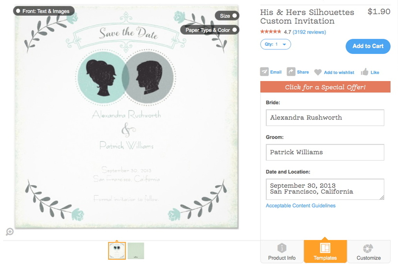Customize with the zazzle design tool wedding essentials fig 3 invitation viewed in new design tool stopboris Gallery